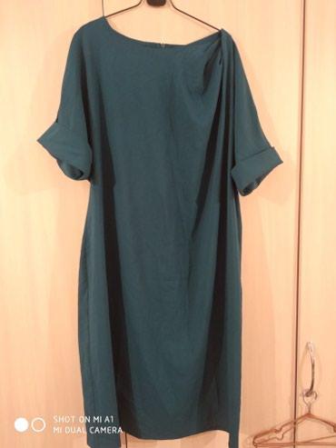 Платье 56 размер. цвет изумруд. очень в Кок-Ой
