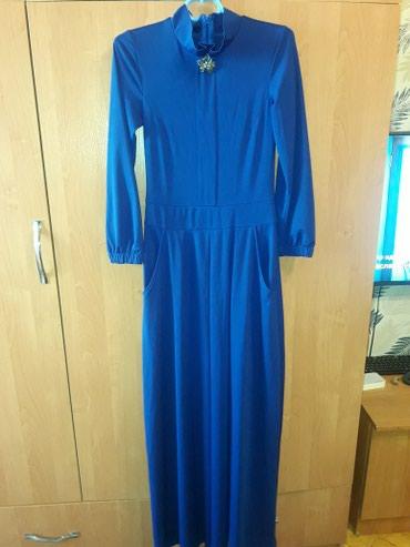 Платье длина в пол,цвет электрик.Сидит в Бишкек