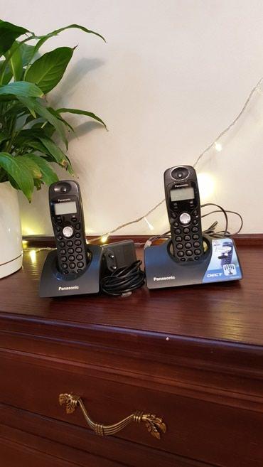 Маленькие-телефоны - Кыргызстан: Продаю радио телефоны. Две станции в комплекте.Фирма PanasonicРаботает