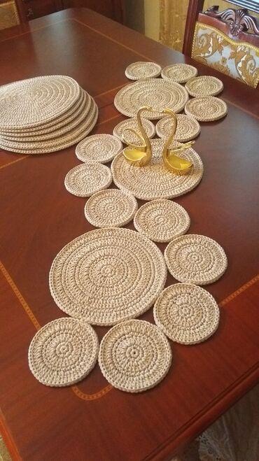 Masa dekoru (Runner)sifarislə hazırlanır