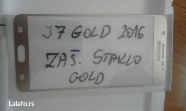 Color zastitno staklo j7 2016 zlatno i crno.     Garancija na kvali
