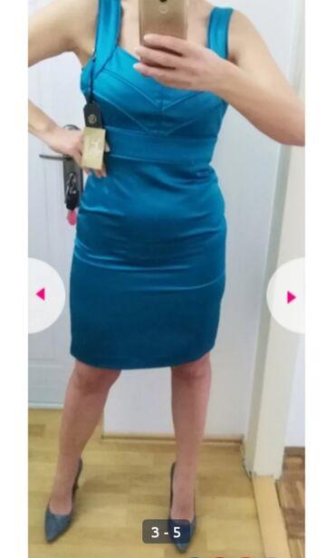 Potpuno nova haljina, sa etiketom, vel L, prelep saten sa elastinom