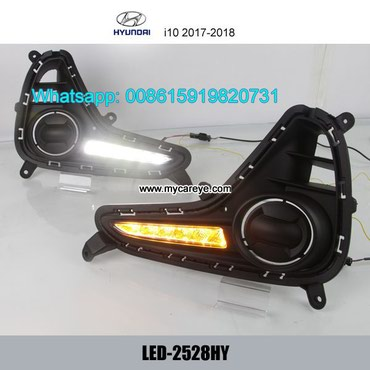 Hyundai i10 LED DRL day time running lights driving daylight in Tīkapur