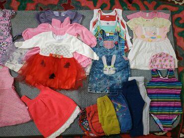 джинсовое платье на пуговицах в Кыргызстан: Продаю б/у детские вещи на девочку в хорошем состоянии, размеры с 1год