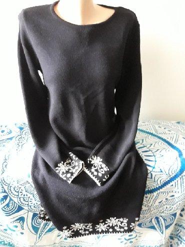 Pletena haljina malo nosena velicina L