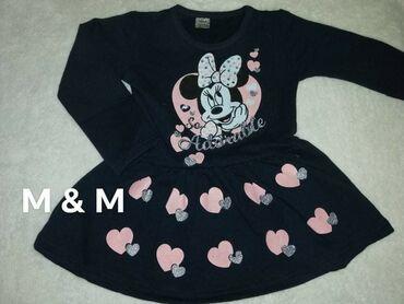 Minnie haljinice 🥰Brušeni pamuk, futer Dostupne veličine 2, 4, 6, 8
