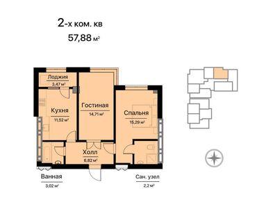продаю квартира бишкек в Кыргызстан: Элитка, 2 комнаты, 60 кв. м Теплый пол, Бронированные двери, Видеонаблюдение