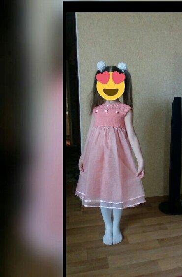 Детский мир - Чон-Таш: Платье ручная работа. верх связан крючком на возраст 5-7 лет