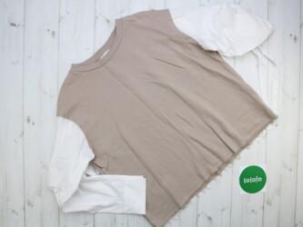 Жіночий комбінований светр Zara, р. S    Довжина: 62 см Рукав: 58 см Н