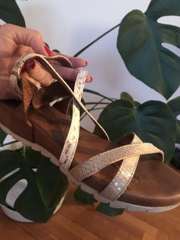 """Kožne sandale""""Tamaris"""", jako udobne, broj 39, u radnji bile 8500"""