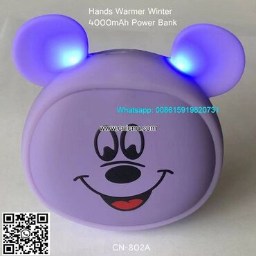 Power Bank Cute Double Sided Quick Heating Hand