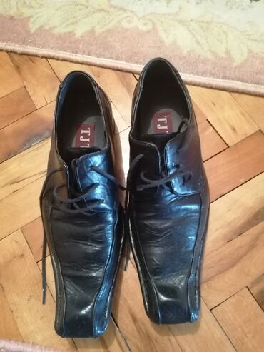 Bez cipele - Srbija: Muške kožne cipele bukvalno nove bez tragova korišćenja br 40,nije