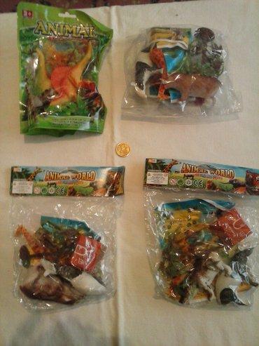 Igracke animals 4 pakovanje animals igracaka. novo nekorisceno! - Leskovac