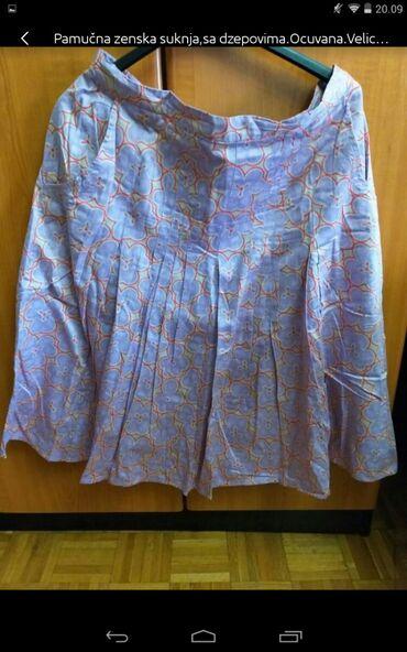 Personalni proizvodi | Obrenovac: Pamučna ženska suknja, sa džepovima jednom obučena veličina XL