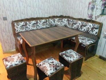 Bakı şəhərində Metbext künc divan stol taburetka yeni sexden eve mağaza qiymeti