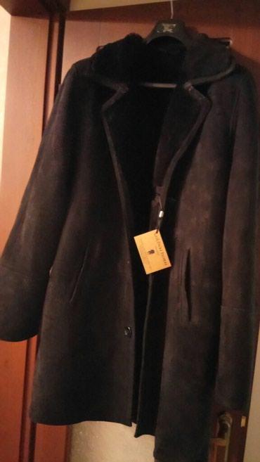 Мужские пальто в Кыргызстан: Продаю мужскую дублёнку чёрного цвета, размер 52, недорого . Новая