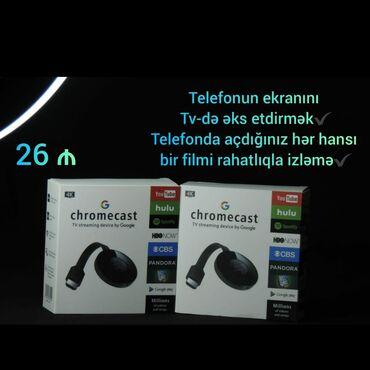 Proyektorlar - Azərbaycan: Chromecast telefonun goruntusunu televizora yansitmaq elaqe wp