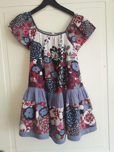MONSOON 9-10Predivna pamucna haljina sa postavomPuf rukavi,okovratnik