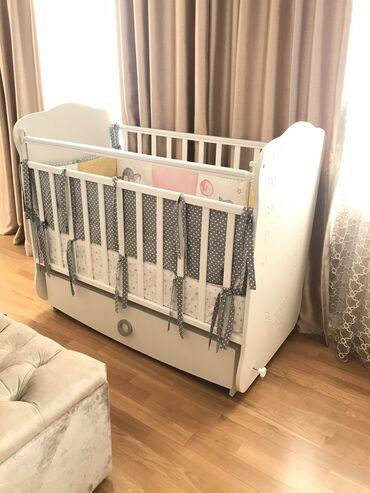 usag kravati - Azərbaycan: Детская кроватка, российского производства из берёзы общие габариты