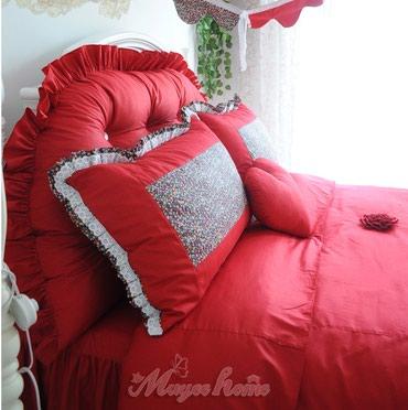 декоративные наволочки на подушки в Кыргызстан: Красивенное постельное белье состоящее из 9 предметов-спинка для