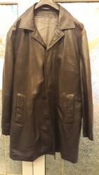 Espirit-tunika-xl - Srbija: Muški crni mantil od ciste kožekoža kao rukavica vrhunski kvalitet