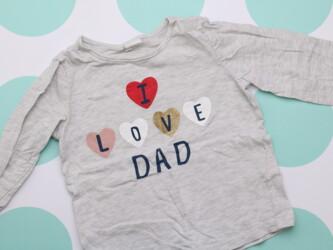 Детская легкая кофта I love Dad от H&M, 12-18 мес.    Длина: 31 см