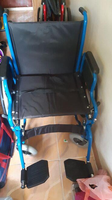 Детская-инвалидная-коляска - Кыргызстан: Инвалидная коляска новая Россия до 130 кг цена 9000с