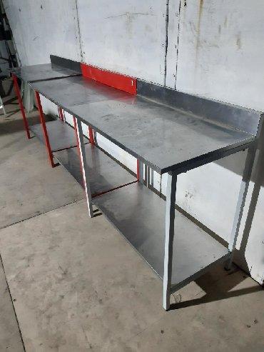 мойка для кафе бу в Кыргызстан: Стол Пищевые столы Размер длина 90см  Ширина 50см