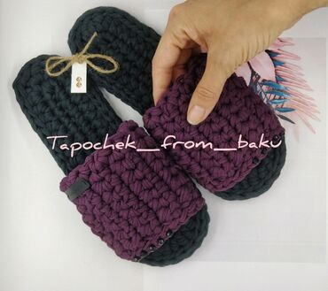 Slippers. Hand made. New. Razmer: 36/37