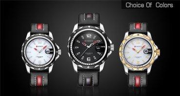 Цепочку и браслет - Кыргызстан: Черные Мужские Наручные часы Curren