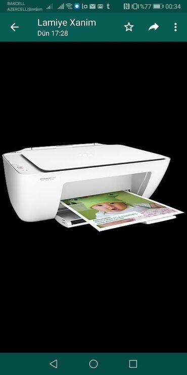 Printerlər - Azərbaycan: Printer HP3 u birinde rengli ag - qara printer - kseroks skaner bir il