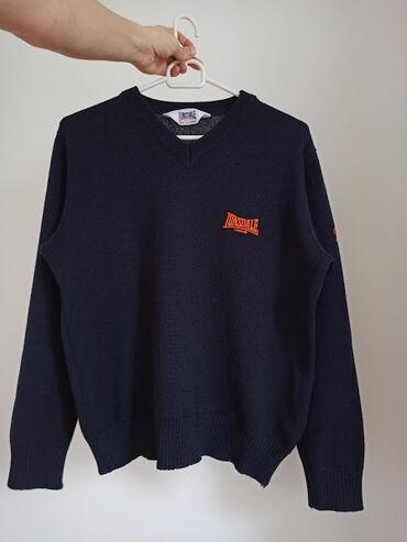 Baggy siva rolka kaschmir vuna - Srbija: Lonsdale džemper teget boje Veličina je M Sastav: 70% akril, 30% vuna