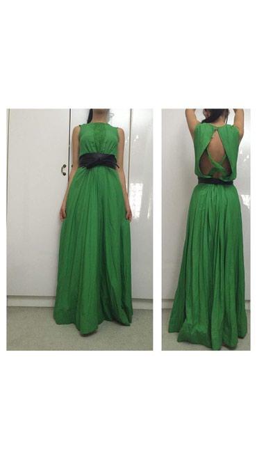 Платье зеленое без ремня!(ремень купили отдельно) в Токмак