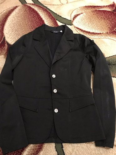 Подростковый пиджак черного цвета. 44размер в Бишкек