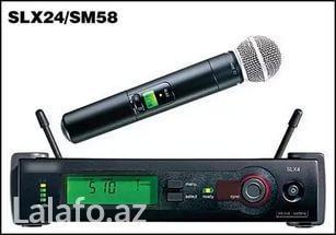 """Bakı şəhərində Mikrofon """"shure slx24/sm58"""" yeni. Tam yoxlama. Whatsapp var. Tel."""