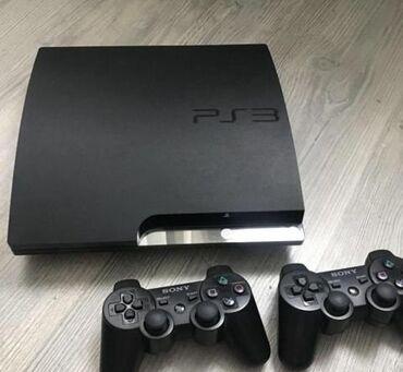 joystik - Azərbaycan: Playstation3 slim 500GB və yaddaşında oyunlar. 2 joystik və kabelləri