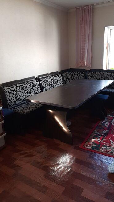 стол стулья для зала in Кыргызстан | КОМПЛЕКТЫ СТОЛОВ И СТУЛЬЕВ: Б/У Кухонный уголок +6 стульев покупали за 16000