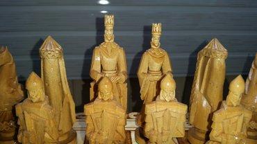 Фирменные экслюзивные сувенирные шахматы резной, ручной работы от Дин