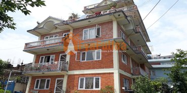 A strongly built flat system house having land area 0-12-3-2 of 3.5 in Kathmandu