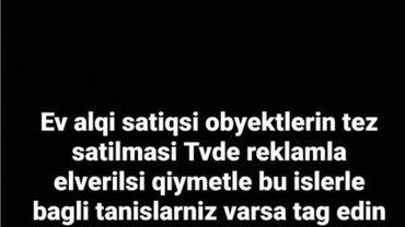 ev alqi satqisi 28 may - Azərbaycan: Tvde reklam ev alqi satqisi obyetktlerinizin tez satilmasini tvde