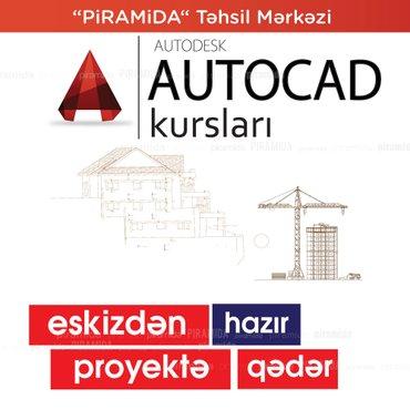 Bakı şəhərində Autocad proqramı üzrə kurs.Artıq çertyojları əl ilə çəkməkdən