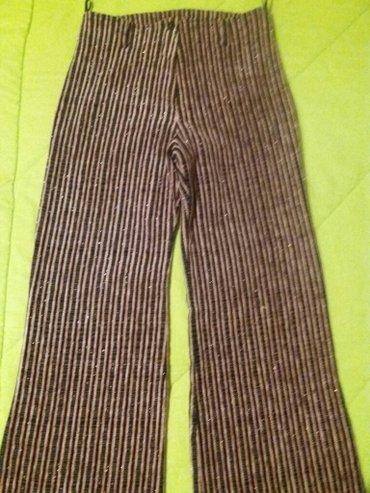 Novo pantalone crno nezno roze protkane lameom imaju elastina... - Vrnjacka Banja