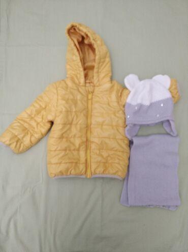 Куртка для девочки на 2 года цена:800с шапка с шарфом серая 400с