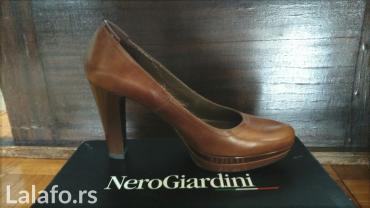 Kožna italijanska cipela,udobna,dva puta nošena,visina štikle 10cm - Valjevo