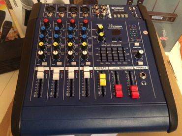 yamaha kalonkalar - Azərbaycan: Yamaha aktiv Mixer 4 kanalli stereo sesguclendirici karaoke studio ve