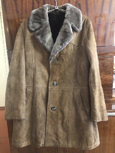 Мужские пальто в Кыргызстан: Продаю натуральную кожанную мужскую дубленку.Размер:48-50.В отличном