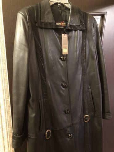 Женское кожаное пальто,новое с в Бишкек