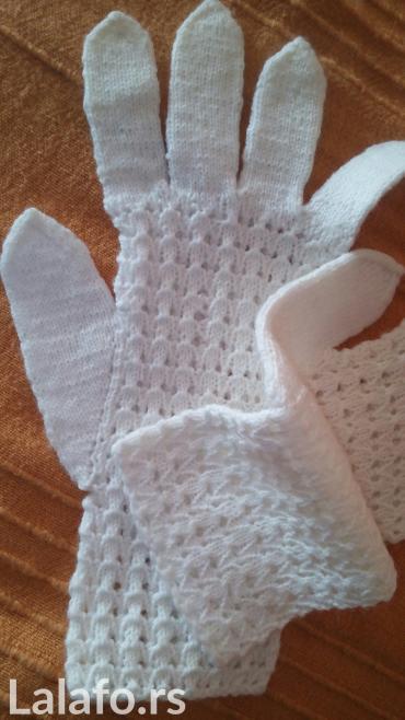 Crnogorska nosnja - Srbija: Rukavice rucni rad bele nekoriscene. Koriste se i kao deo narodne