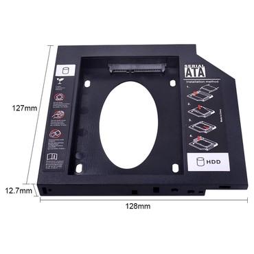 титановые диски в Азербайджан: CHIPAL Универсальный второй 2 HDD Caddy 12,7 мм SATA 3,0 для 2,5 ''SSD