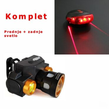 Ostalo za kuću | Pancevo: Prednje+zadnje svetlo-laser, komplet svelo za biciklo---->>>